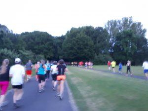 Foto joggende Menschen