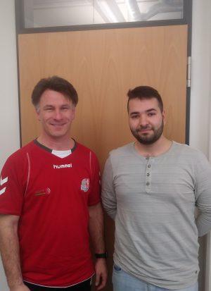 Redakteur Fatih Ari und Jörn Uhrmeister